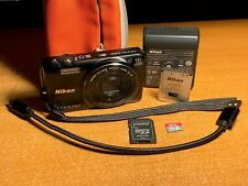Nikon COOLPIX S6800 16.0MP Digital Camera - Black + 16GB Card + Case