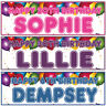 2 personalised birthday banner Balloon children adults party poster decoration
