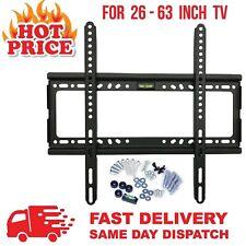 TV WALL BRACKET MOUNT SLIM FOR 26 30 32 40 42 50 63 INCH INCLUDE SPIRIT LEVEL