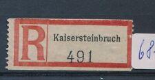 68721) Ostmark, Reco-Zettel Kaisersteinbruch