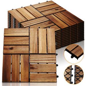 11x Holzfliesen Terrassenfliesen Fliesen Platten Klickfliesen Balkon Holzoptik