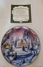 """(vintage) The Bradford Exchange Plate """" The Little Church In The Vale"""" Mint."""
