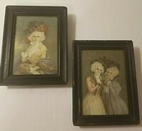 ANTIQUE VICTORIAN PICTURES AND FRAMES. SIZE 4X5 INCHES