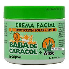 Baba De Caracol Aloe Facial Cream 3.5 Oz. Crema Facial SPF 15