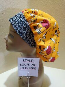 Charlie Brown Thanksgiving Women's Bouffant Surgical Scrub Hat/Cap Handmade