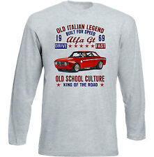 Vintage Italian Voiture Alfa Romeo GT Junior 1969-Nouveau T-shirt en coton