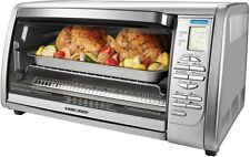 Digital Convection Toaster Oven, Stainless Steel BLACK+DECKER 6-Slice Countertop