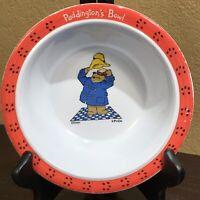Paddington Bear Bowl Melamine Eden Vintage 90's