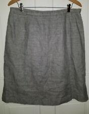Talbots black white houndstooth check irish linen skirt. 14