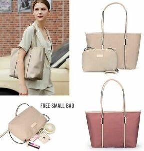 Women's Laptop Briefcase For 13-15 In Notebook Handbag Simple Shoulder Bags Gold