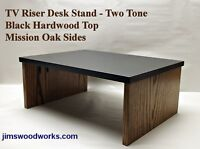 TV Riser Desk Stand 2-Tone Made To Order 5 Weeks 22L-10W Pick Height