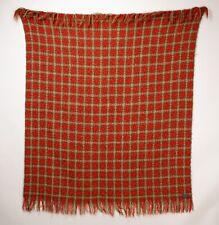 "Vintage 1960's Pendleton Wool Blanket Plaid Shawl Stadium Blanket Throw 64""x64"""