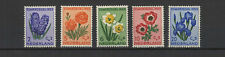 fleur Pays-Bas 1953 au profit des oeuvres de bienfaisance 5 timbres neufs /T2209