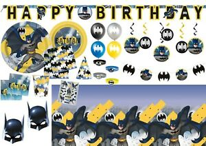Batman DC Comics Happy Birthday Tableware Decorations Party Supplies