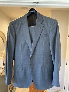 Giorgio Armani Mens Grey Nailhead Suit 50 IT 40 US