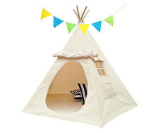 Lavievert Children Playhouse Indian Canvas Teepee Kids Play House with 2 Windows