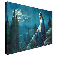 The Prayer Of Jesus 40x20inches Canvas Wall Art Picture Print