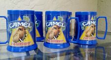 Five Joe Camel 75th Birthday Plastic Beer Mugs 1988 Made by Thermo-Serv USA