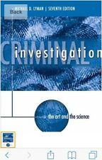 Criminal investigations 7th edition