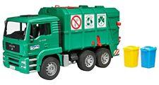 Bruder - 02753 Camion Poubelle Man TGA Vert avec 2 Poubelles