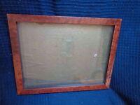 Cornice Foto Souvenir IN Legno Di Impiallacciatura E Antico Topper 2 Posizioni