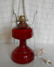 Vintage flash ruby glass table lamp