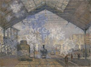 "MONET CLAUDE -THE SAINT-LAZARE STATION, 1877- ART PRINT POSTER 11"" X 14"" (2620)"