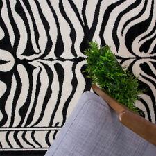 Black Friday Sale Black White Safari Fake Zebra Skin Animal Print Nature Rug