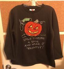 THE QUACKER FACTORY Seasonal Halloween Smile Tunic Sweatshirt Medium