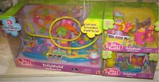 Vintage Polly Pocket ~ POLLY WORLD~ Amusement Park Roller Coaster.. New !!!