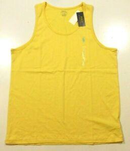 Polo Ralph Lauren Men's Yellow Cotton Tank Top