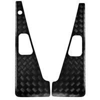 Heavy Duty Wings Tops with Aerial hole  3mm Chequer Plate Black Defender