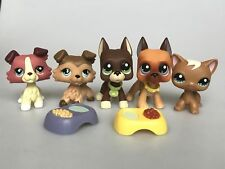 5lot Littlest Pet Shop LPS Great Dane Dog Collie Cat Figure Toys Rare Collars