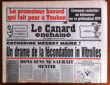 Le Canard Enchaîné 5/02/1997; Comment Racketter un Bétonneur en se prétendant RP