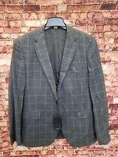 Hugo Boss Men's checked Gray Jacket Blazer Sz 44 R $645 Italy Woven