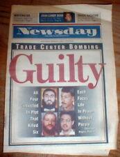 1994 newspaper GUILTY VERDICT 1st World Trade Center Bombing - Islamic Terrorism