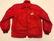 Vintage FS Red Nylon Reversible Puffy Windbreaker Jacket Size Medium J14