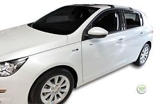 DPE26154 Peugeot 308 5 puertas hatchback 2013-up viento desviadores 4pc Heko Teñido