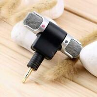 Black 3.5mm Jack Mini External Microphone Mic Stereo Recorder For Mobile Phone
