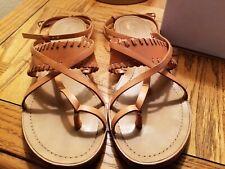 Emilio Pucci Toe Loop Ring Tan Sandals 40 (9.5)