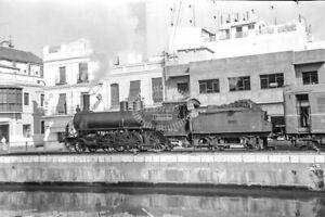 PHOTO RENFE Spanish Railways Steam Locomotive 130 2056 ECS docks Algeciras Docks