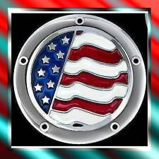 DERBY & CAM COVERS USA FLAG DESIGN HARLEY CHOPPER 5 HOLE TWIN CAM