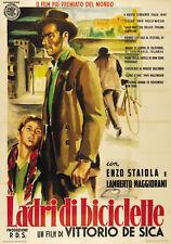 The bicycle thief Vittorio De Sica vintage movie poster