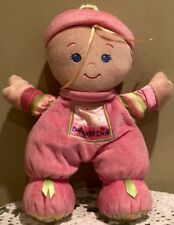 Fisher Price Pink Baby's 1st Doll Plush Rattle Baby Girl Toy Infants Lovey 2008
