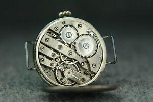 RARE WWI Pilot Aviator Officier Watch antique vintage Military
