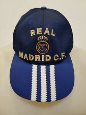 CAPPELLO BERRETTO CALCIO REAL MADRID ADIDAS HAT FOOTBALL VINTAGE OLD STYLE C74