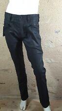VALEUR 50 € LIBERTO Taille 42 NEUF Superbe pantalon jeans jean denim noir enduit