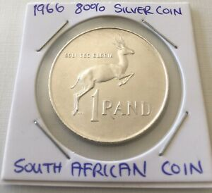 1966 South Africa Silver Rand Coin FREE STANDARD POSTAGE