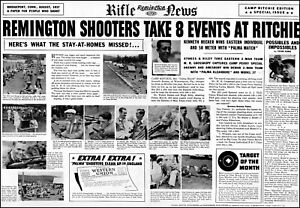 1937 Remington Rifle News shooters win at Ritchie vintage photo print ad ads8