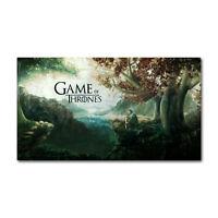 Game of Thrones 1 2 3 seven kingdoms map Silk Cloth Poster 13x24 24x43 Decor 001